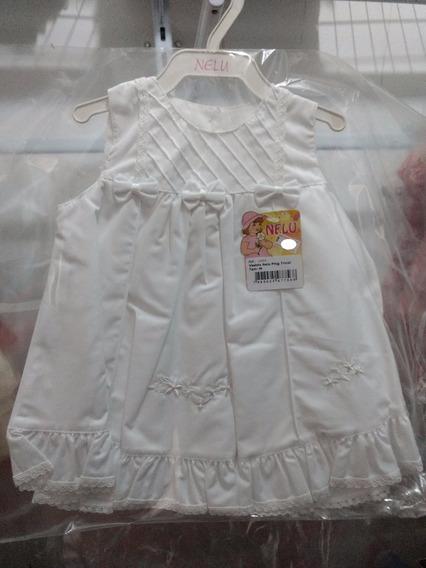 Vestido Para Bebe Festa Casamento Batizado Branco