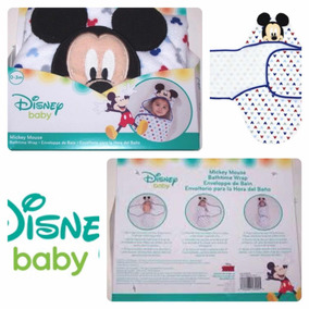 Toalha De Banho (envelope) Mickey, Disney Baby, 0 A 3 Meses