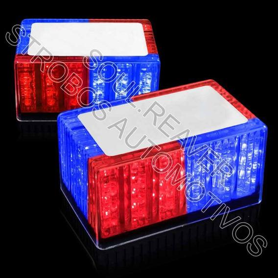 Giroflex Vermelho E Azul Em Led Transparente Fixação Por Imã