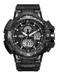 Relógio Smael 1376c Masculino Militar Esportivo Digital