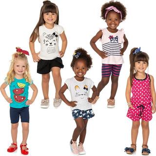 Roupa Bebê Infantil Menina Kit 4 Conjuntos E 1 Macaquinho