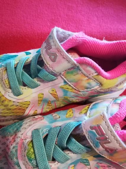 Zapatillas Multicolor Fila Niña - Talle 26