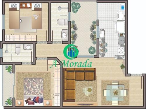 Imagem 1 de 3 de Belo Apartamento 2 Dormitórios No Jardim Utinga - Santo André - Ap03261 - 69878017
