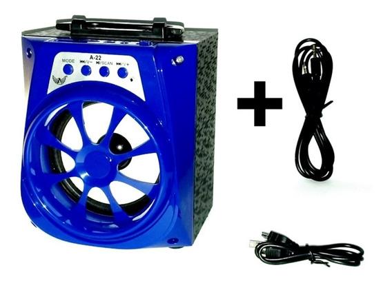 Caixa De Som Bluetooth Altomex A22 Usb Rádio+ Brinde Cabo P2