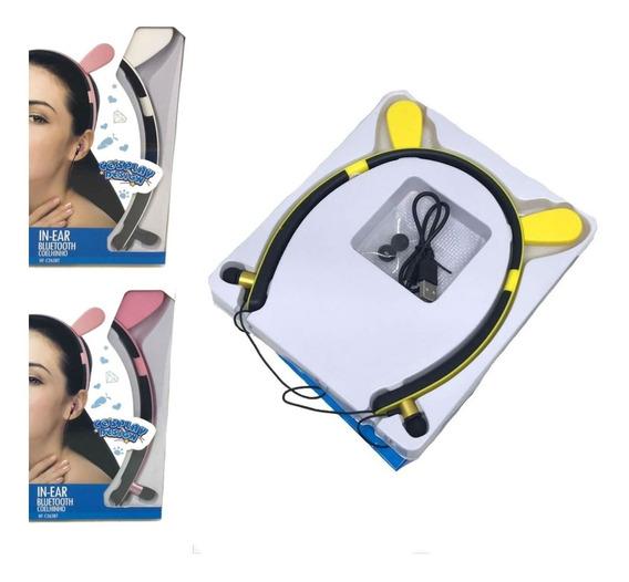 Fone De Ouvido Bluetooth Coelhinho C/ Adsorção Magnética