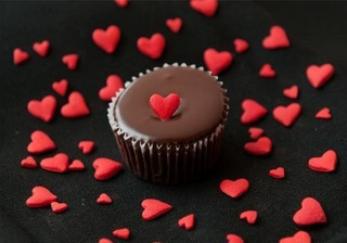 Painel Adesivo Decoração Bolo Doces Chocolate Coração Lindo