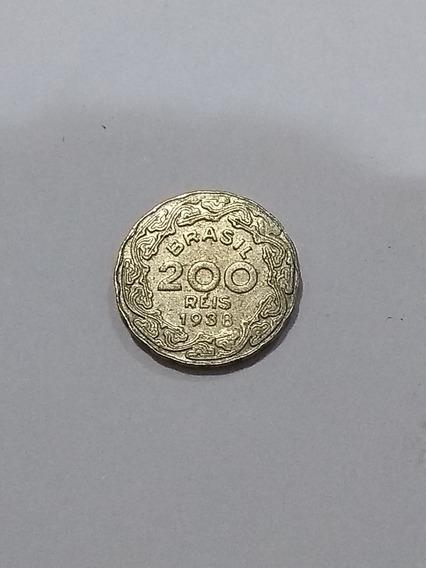 Moeda Brasil 200 Réis 1938 Getúlio Vargas, Fc