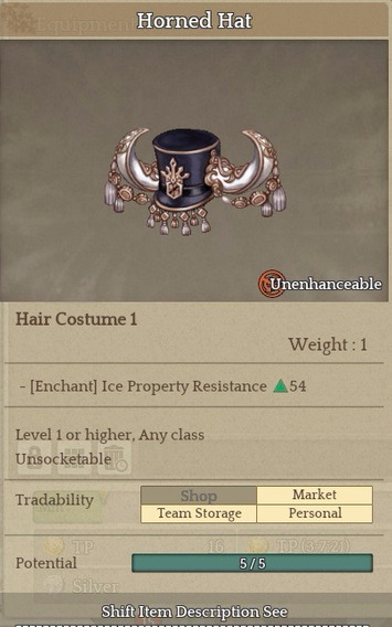 Horned Hat - Item Tree Of Savior (tos) [sa] Silute Hat