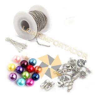 Dijes Para Mates Souvenir Flecos Perlas Accesorios Kit Combo