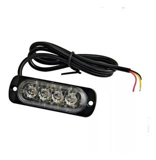 4 Led Flasher Luces Ultra Enrarezca Coche Camión Lado Luces
