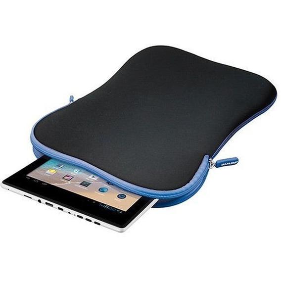 Case Multilaser Neoprene Para Tablet 10 - Preto/azul - Bo179