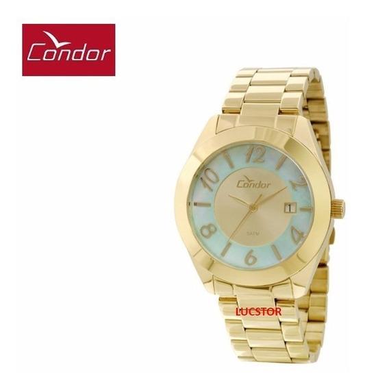 Relógio Condor Feminino Co2115te/4b C/ Calendario Aço
