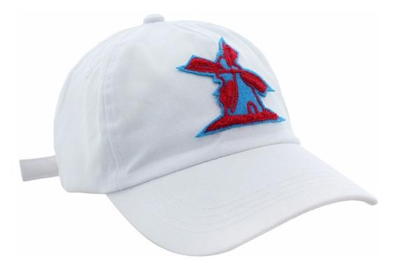 Boné Giulianno Fiori Ralph White Logo Azul Aba Curva