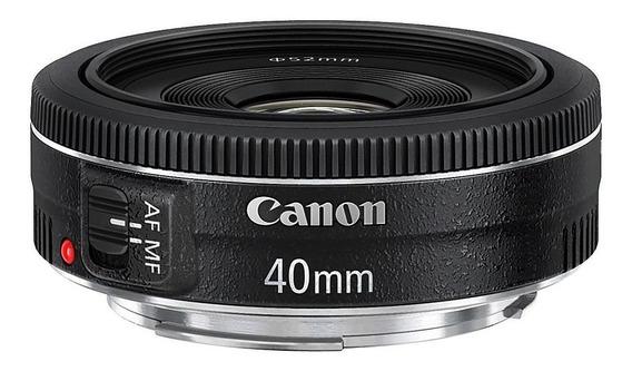 Lente Canon Ef 40mm F/2.8 Stm Garantia Nova 12x Sem Juros