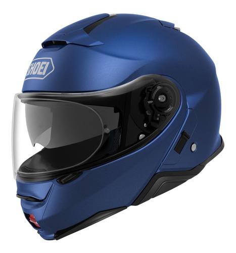 Capacete Shoei Neotec 2 Azul Fosco Com Selo Do Inmetro + Nf