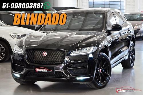 Jaguar Fpace 250cvg Rsport Blindada Vidro Agp B33 Garantia