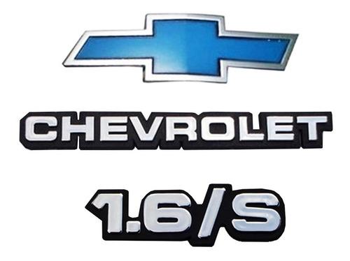 Imagem 1 de 5 de Kit Emblemas Gravata + Chevrolet + 1.6/s P/ Chevette + Brind