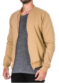 Moletom Masculino Blusa De Frio Casaco Com Ziper Sem Capuz