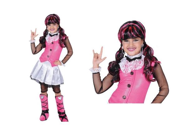 Disfraz De Drácula Niña. Monster High. T-10 + Peluca
