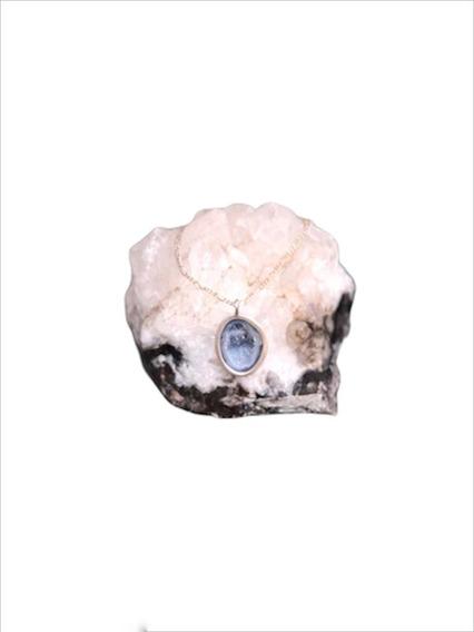 Collar De Plata Con Piedra Druzy