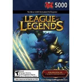 League Of Legends Lol - Cartão 5000 Riot Points Rp Br