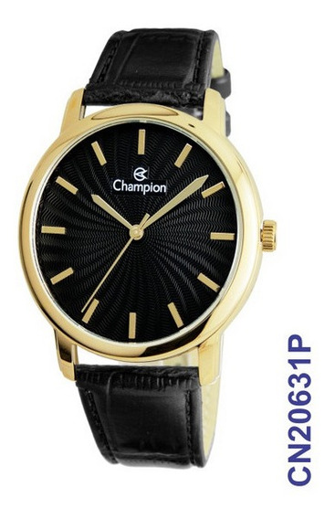 Relógio Champion Feminino Pulseira De Couro Cn20631p
