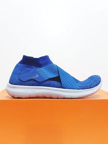 Tênis Feminino Nike Free Rn Flyknit Motion Azul N. 37