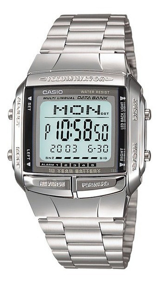 Relógio Casio Data Bank Prata Db-360-1adf Vintage Original