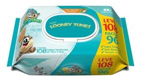 Kit C/ 12 Lenços Umed. Looney C/ 108 Toalhas Frete Gratis