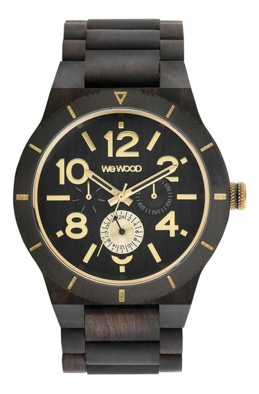 Relógio, Wewood, Kardo Mb Black Rough Gold