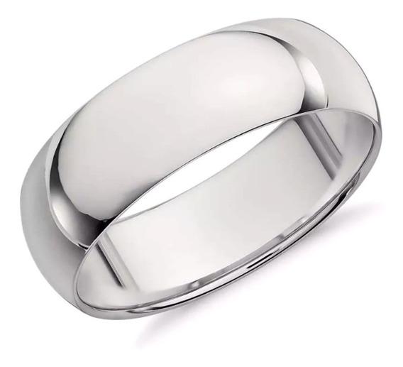 Argolla Baño De Oro Blanco Anillo Matrimonio 4313063