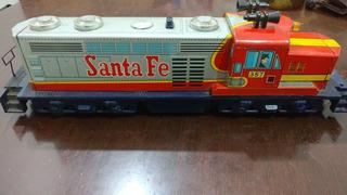 Tren A Baterias De Chapa Hojalata Santa Fe Coleccion