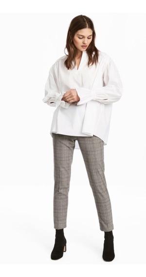 Pantalón De Vestir Mujer H&m Príncipe De Galés 5679