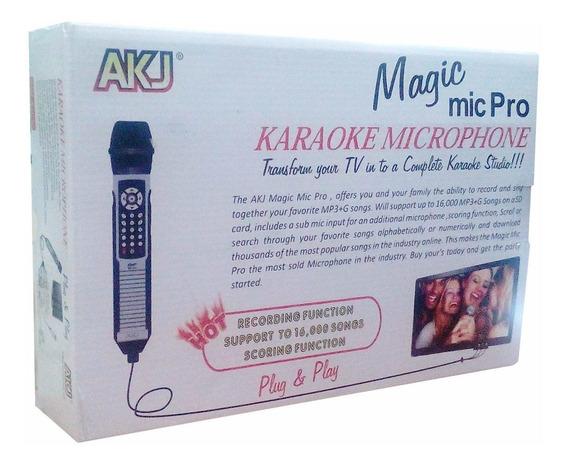 Microfono Karaoke Magic Mic Pro 4000 Canciones Sd Mp3 Alta C