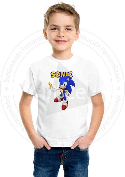 Remera Niño Sonic