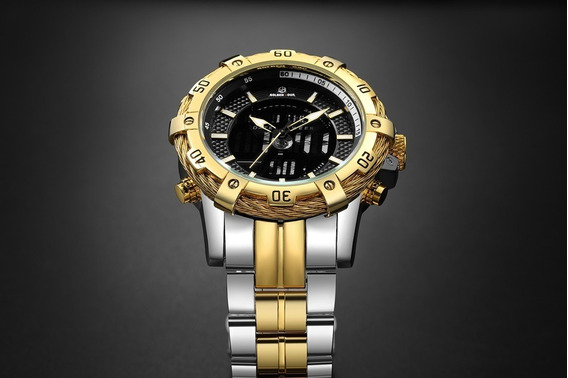 Relógio Masculino Luxo A Prova De Água - Analógico E Digital