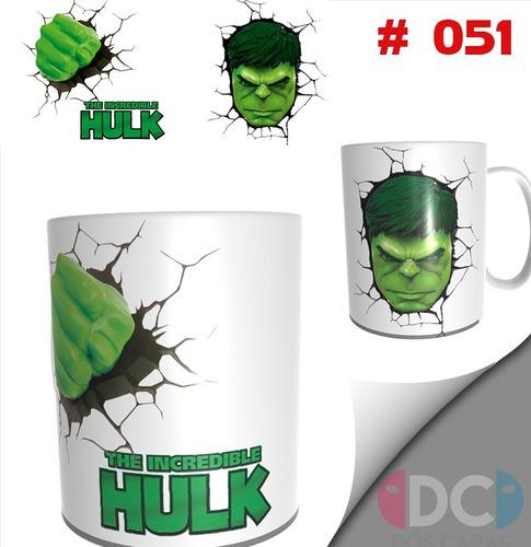 Taza De Comics Coleccionable  Hulk Marvel #051