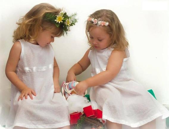 Vestido Bautismo Fiesta Casamiento Cortejo Blanco Beba Nena