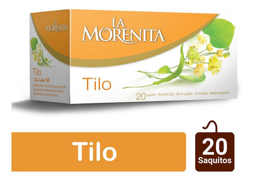Morenita Te Hierbas Tilo X 20 Saquitos