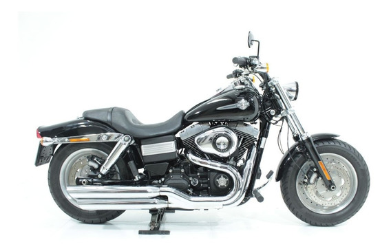 Harley Davidson Dyna Fat Bob 2013 Preta
