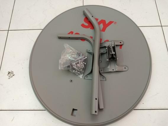 2 Antenas Ku 60 Cm+2 Lnb Simples+1 Cabo Rg6+ 20 Conectores