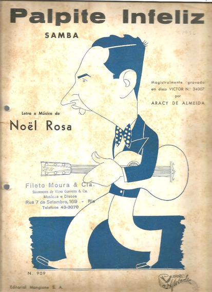 Partitura 1935 - Palpite Infeliz - Noel Rosa