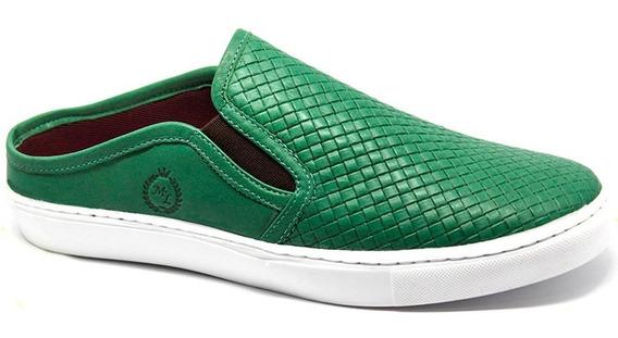 Sapato Sapatilha Mule Masculino Comfort Couro Trissê Verão