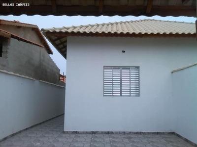 Casa A Venda Em Itanhaém, Balneário Tupy, 2 Dormitórios, 1 Suíte, 2 Banheiros, 2 Vagas - 169