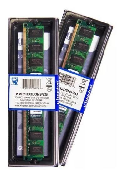 Memória Kingston Ddr3 2gb 1333 Mhz Desktop 16 Chips 1.5v