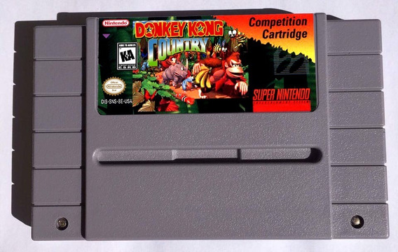 Jogo Repro De Snes Donkey Kong Country Competition + Brinde