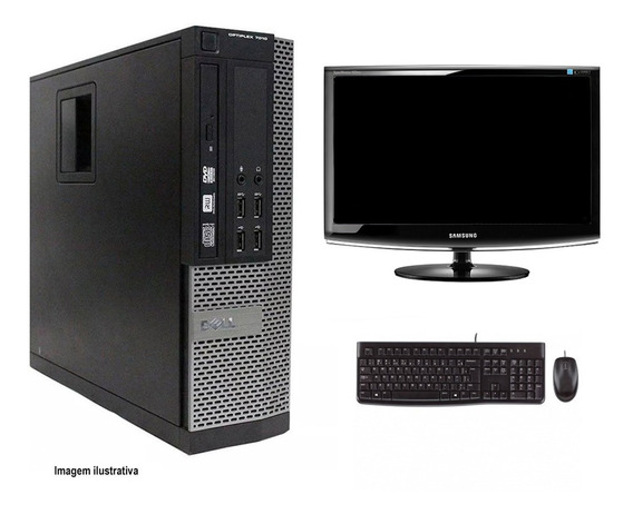Computador Desktop Dell 7010 I7 4gb 120ssd Monitor 18