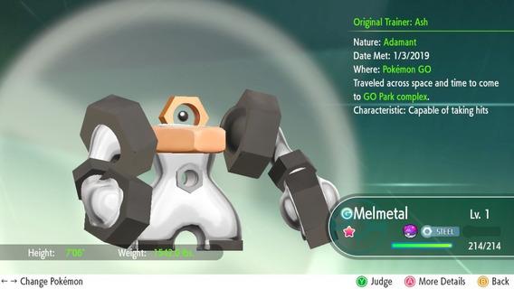 Melmetal Normal Ou Shiny Para Pokemon Lets Go.