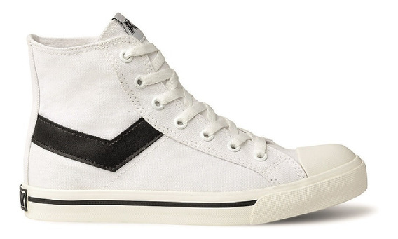 Zapatillas Pony Shooter Hi Canvas Blanco Wales Deportes