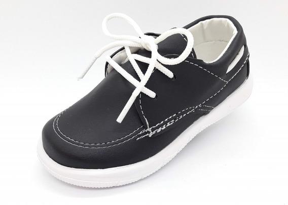 Zapato Náutico Negro O Azul Varón Nene Niño! 17 Al 26 Fabricantes Directos !